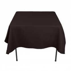 Tablecloth Square 72 Inch Black By Broward Linens