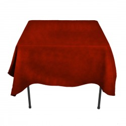 Tablecloth Square 72 Inch Cranberry By Broward Linens