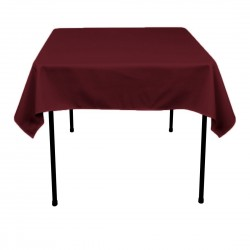Tablecloth Square 54 Inch Black By Broward Linens
