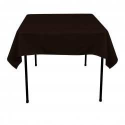 Tablecloth Square 42 Inch Black By Broward Linens
