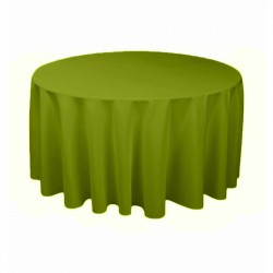 Tablecloth Round 90 Inch Apple Green By Broward Linens