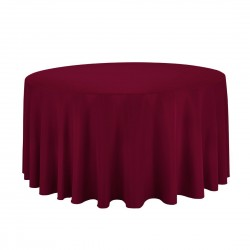 Tablecloth Round 90 Inch Brown By Broward Linens