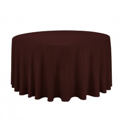 Tablecloth Round 72 Inch Black By Broward Linens