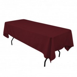 Tablecloth Rectangular 60x102 Inch Black By Broward Linens