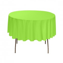 Tablecloth Round 42 Inch Apple Green By Broward Linens