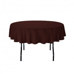 Tablecloth Round 42 Inch Black By Broward Linens