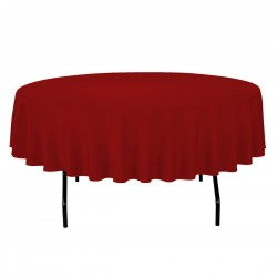 Tablecloth Round 42 Inch Coral By Broward Linens