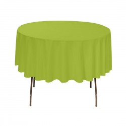 Tablecloth Round 36 Inch Apple Green By Broward Linens